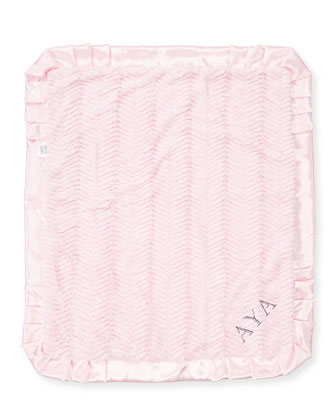 Ziggy Plush Receiving Blanket, Pink