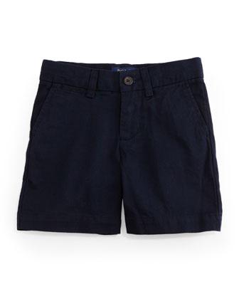 Cotton Flat-Front Prospect Shorts, Size 2-7