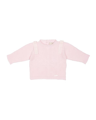Knit Button-Back Sweater, Pink, Size Newborn-6 Months