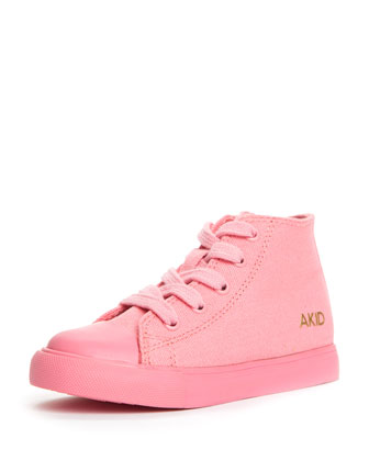Anthony Classic Side-Zip High-Top Sneaker, Pink, Toddler
