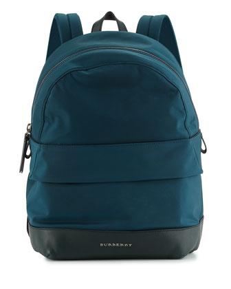 Tiller Kids' Zip-Top Nylon Backpack, Teal