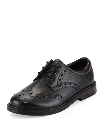 Smeaton Lace-Up Wing-Tip Oxford, Black
