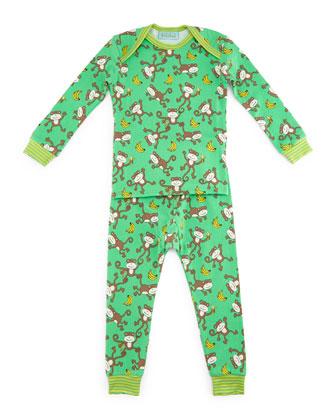 Gone Bananas Pajama Shirt & Pants, Green, Size 3-24 Months