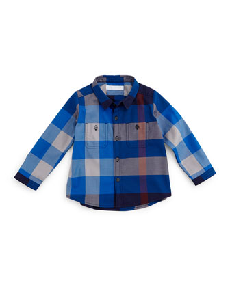Camber Twill Check Shirt, Size 3M-3Y