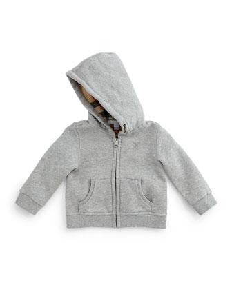 Pearce Hooded Sweatshirt, Pale Gray Melange, Size 3M-3Y