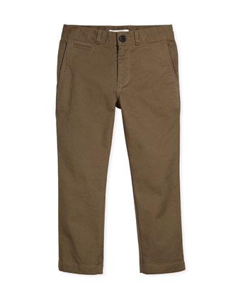 Bryan Stretch-Twill Pants, Mink Gray, Size 4-14
