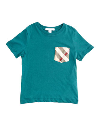 YNG Short-Sleeve Check-Pocket Jersey Tee, Size 4-14