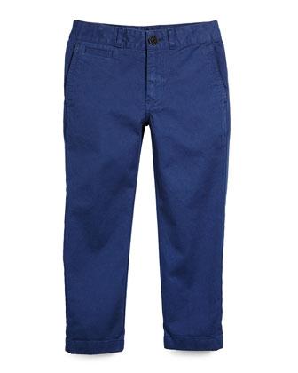 Bryan Chino Stretch-Twill Pants, Canvas Blue, Size 4-14