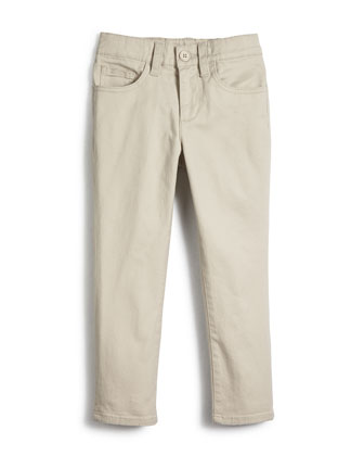 Five-Pocket Brushed Twill Pants, Sparrow, Size 2-7