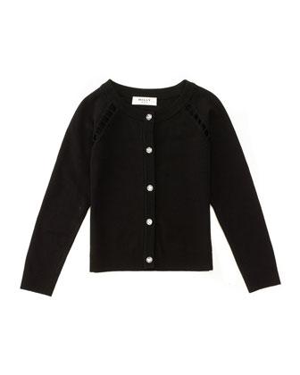 Long-Sleeve Knit Cardigan, Size 4-7