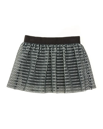 Couture Mesh Skirt, Black/White, Size 8-14