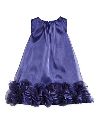 Shimmer Organza Trapeze Dress, Midnight