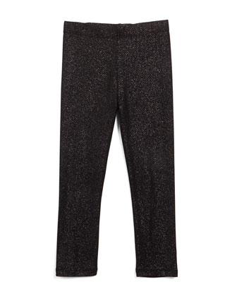 Metallic Jersey Leggings, Size 4-6