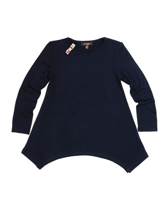 Long-Sleeve Knit Tunic, Size 4-6