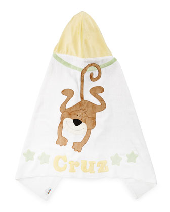 Wild Ones Hooded Towel, White