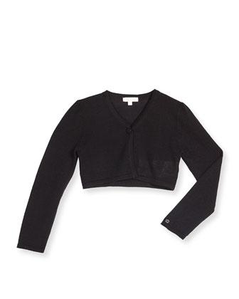 Knit Wool-Blend Bolero, Black, Size 6-36 Months