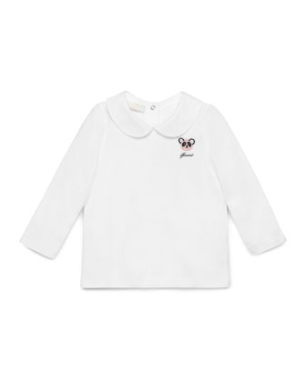 Collared Jersey Tee, White, Size 6-36 Months