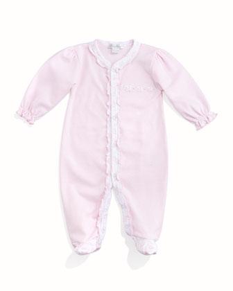 Baby Elephants Pima Footie Pajamas, Pink/White, Size Newborn-9 Months