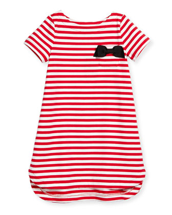 striped lena jersey dress, red/white