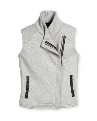 Scuba-Lined Motorcycle Vest, Steel, Size S-XL