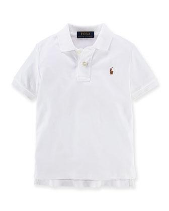 Mesh Pima Polo Shirt, Size 2T-7