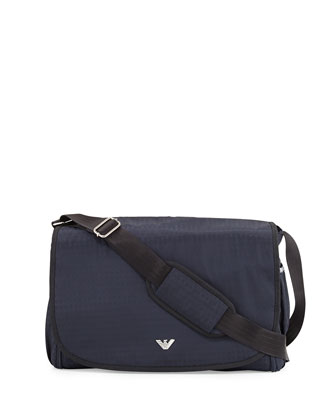 Replen Jacquard Diaper Bag, Indigo