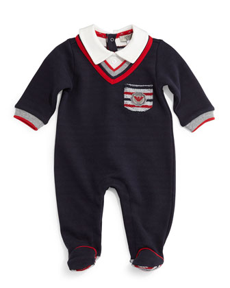 Cotton Illusion Footie Pajamas, Midnight, Size 3-12 Months