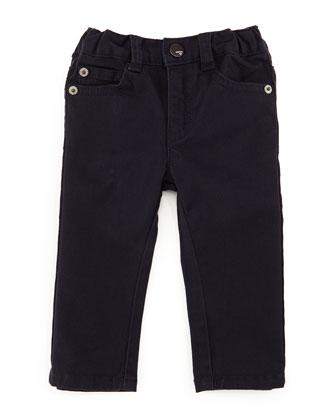 Basic 5-Pocket Dress Pants, Indigo, Size 12-24 Months
