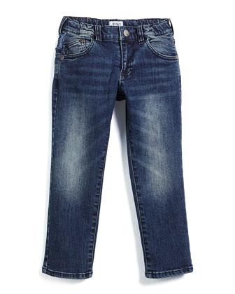 Faded Slim-Fit Jeans, Medium Wash, Size 3-8