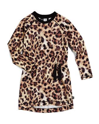 Hyacinth Leather Zip-Trim Biker Jacket & Cassida Leopard-Print Raglan Dress