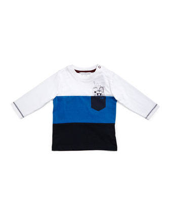 Spaceman Colorblock Jersey Tee & Faded Slim-Fit Jeans