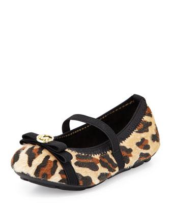 Rover Cheetah-Print Ballet Flat, Toddler
