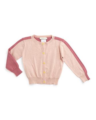 Lauren Snap-Front Colorblock Cardigan, Rose, Size 6-24 Months