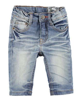 Sonny Faded Denim Shorts, Heavy Blast, Size 12M-2