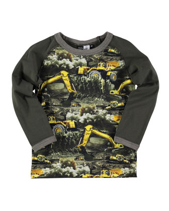 Remington Dirt Digger Raglan Tee, Olive/Multicolor, Size 4-6