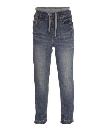 August Drawstring Jeans, Heavy Blast, Size 4-10