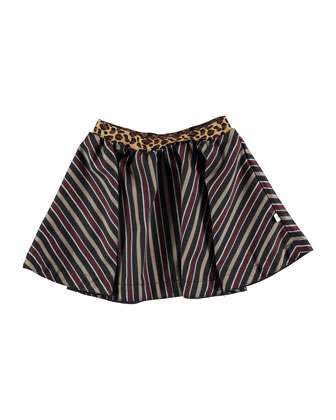 Babette Striped Skirt, Multicolor, Size 5-12