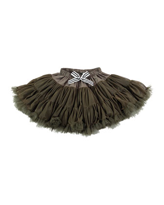 Tiered Bella Tulle Skirt, Brown, Size S-M