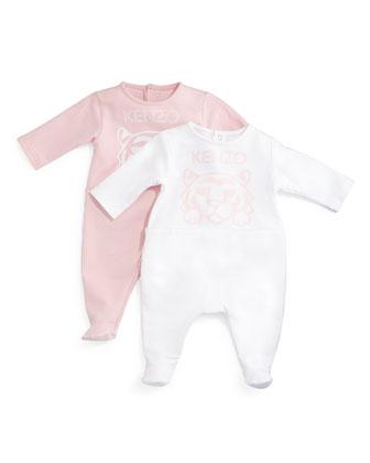 Cotton Footie Pajama Set, Pink, Size Newborn-9 Months