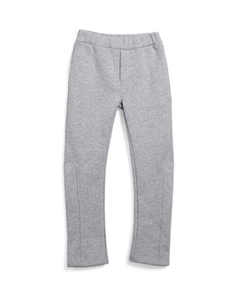 Fleece-Lined Track Pants, Gray, Size 4-5