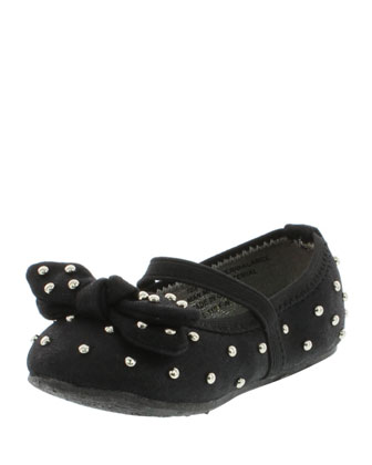 Studded Microsuede?? Mary Jane