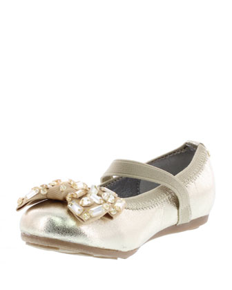 Bree Metallic Faux-Leather Ballet Flat, Toddler