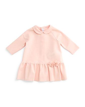 Raglan Ponte Dress, Light Pink, Size 2-6