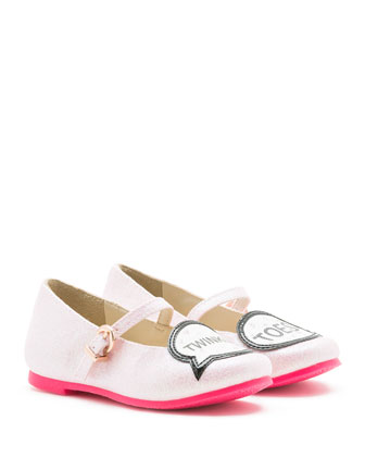 Tyler Twinkle Toes Mary Jane Flat, Pink, Toddler