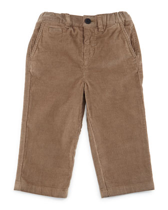 Bryan Corduroy Pants, Taupe, Size 3M-3Y