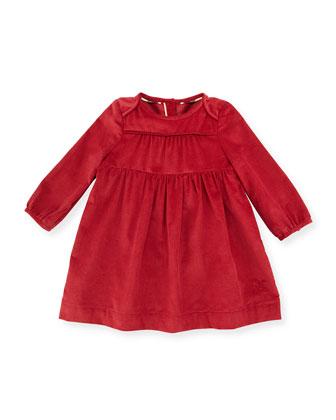 Alara Smocked Corduroy Dress, Rose, Size 3M-3Y