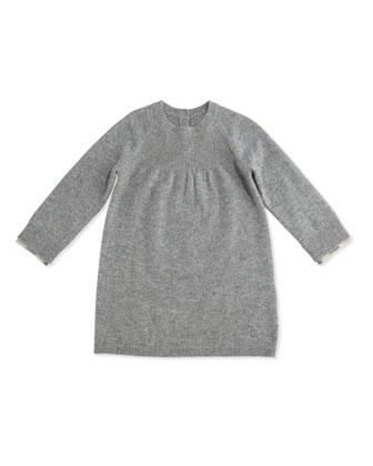 Ivanna Cashmere Shift Dress, Size 3M-3Y