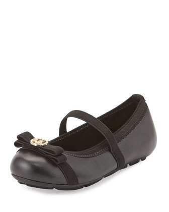 Rover Patent Faux-Leather Mary Jane Flat, Black, Toddler
