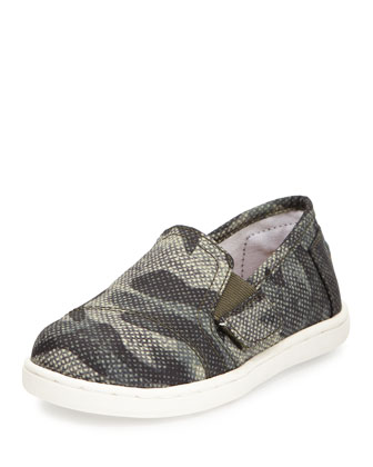 Camo Avalon Slip-On Shoe, Olive, Tiny