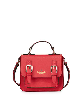 scout girls' saffiano leather crossbody bag, lollipop red